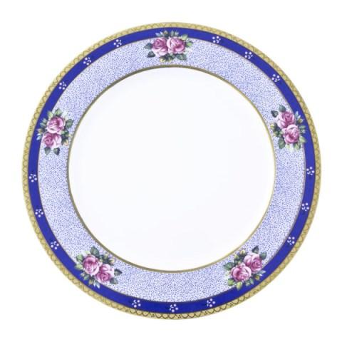 Piatto di Limoges prodotto in Francia con decoro floreale in Oro - Regale