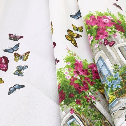Tovaglie con fantasie farfalle e fiori
