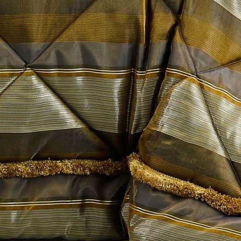 Trapunta Corredo per la sposa biancheria per la casa in organza e raso in oro