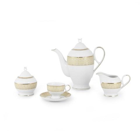 Servizio caffè decorazione filo oro fine porcellana - Carisma