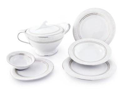 Completo piatti porcellana decorati filo platino - Versailles
