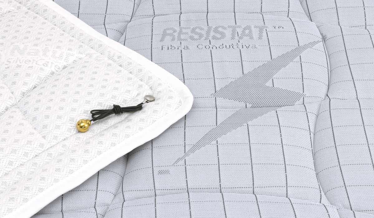 Materasso in tessuto resistat scarico cariche elettrostatiche no-stress