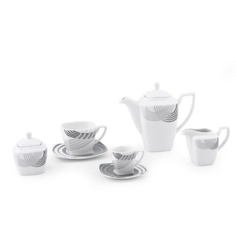 Servizio caffè quadrato colore grigio - Cosmo