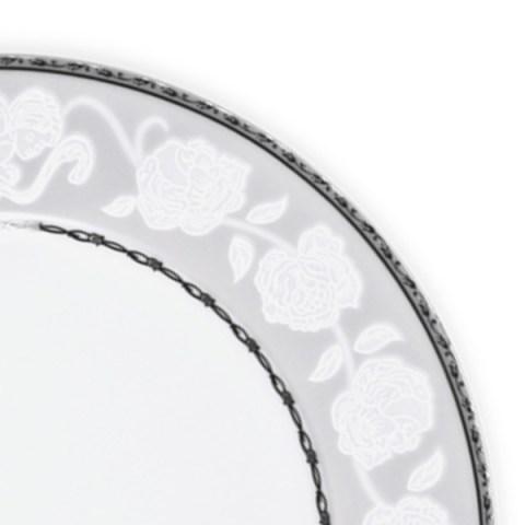 Servizio tavola decorazione filo platino angeli fine porcellana