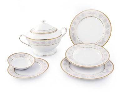 Servizio tavola piatti decoro oro angeli fine porcellana