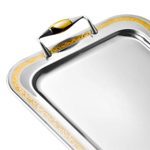Vassoio in acciaio inox 18-10 roma oro