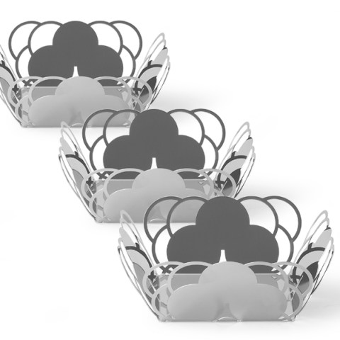 Tris cestini specchio design cosmo