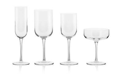Completo bicchieri 50 pezzi dal design lineare - Letizia