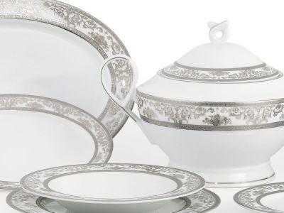 Completo piatti decoro argento - Parigi