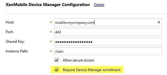 XenMobileDeviceManagerConfiguration
