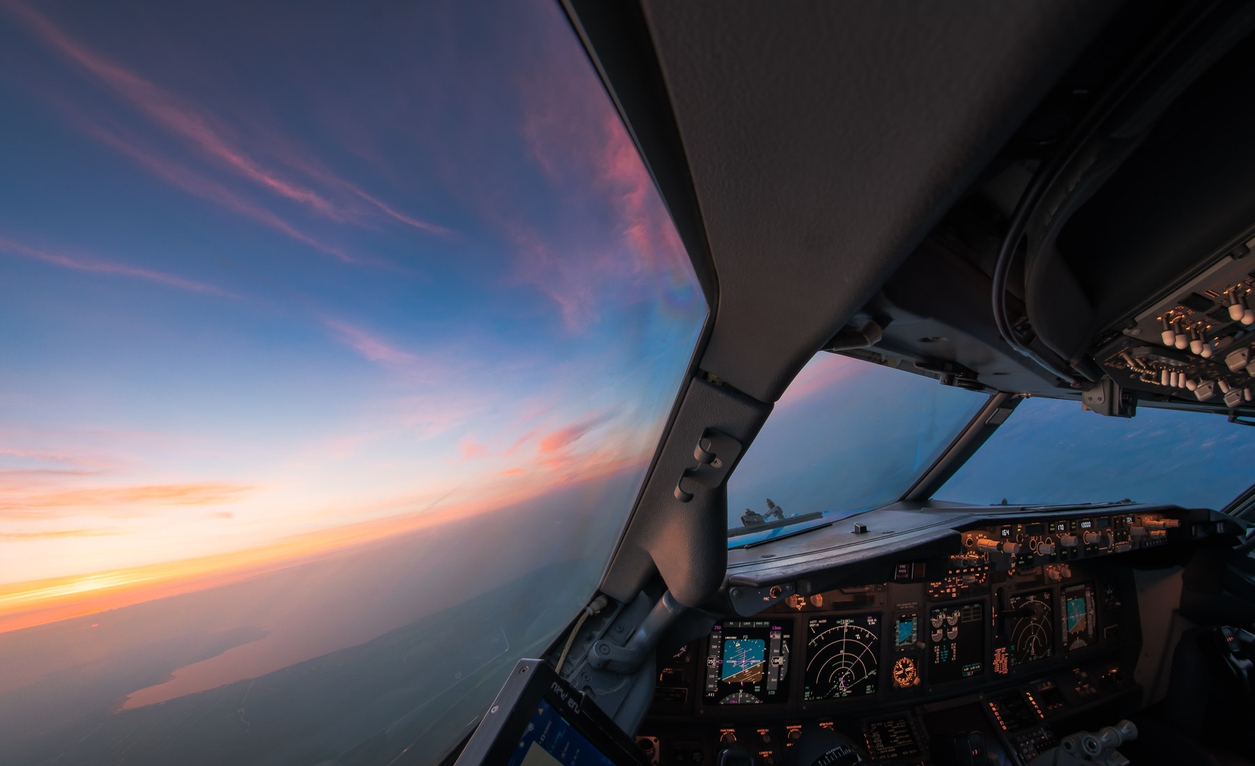 Good morning from the cockpit