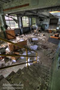 De verlaten kamers van de Val Benoit University