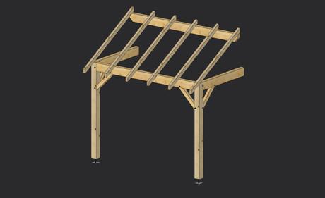 porche bois construction porche