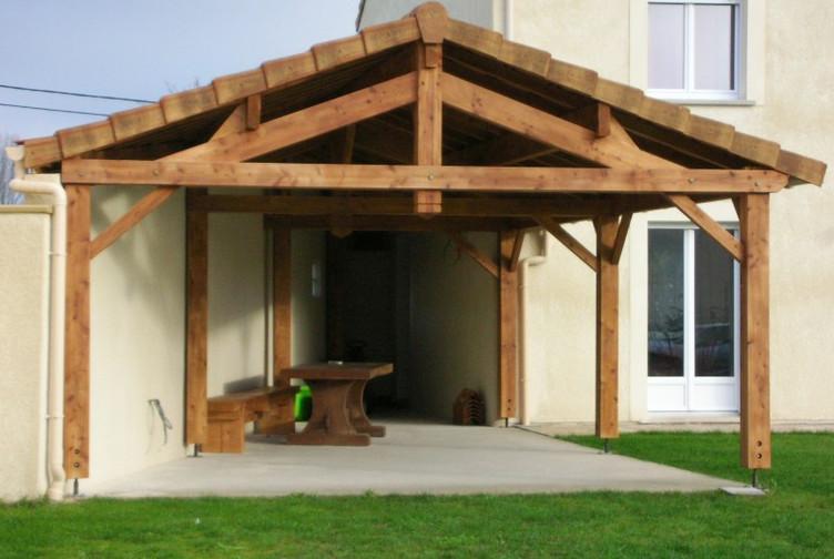 terrasse charpente traditionnelle