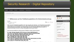 Webauftritt www.sicherheitsforschung.co.at/