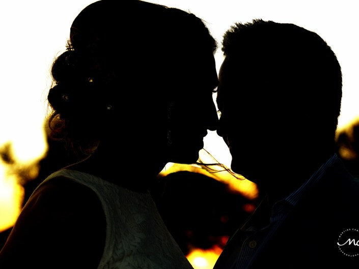 Bride and groom silhouttes at Blue Diamond Riviera Maya, Mexico. Martina Campolo Photography