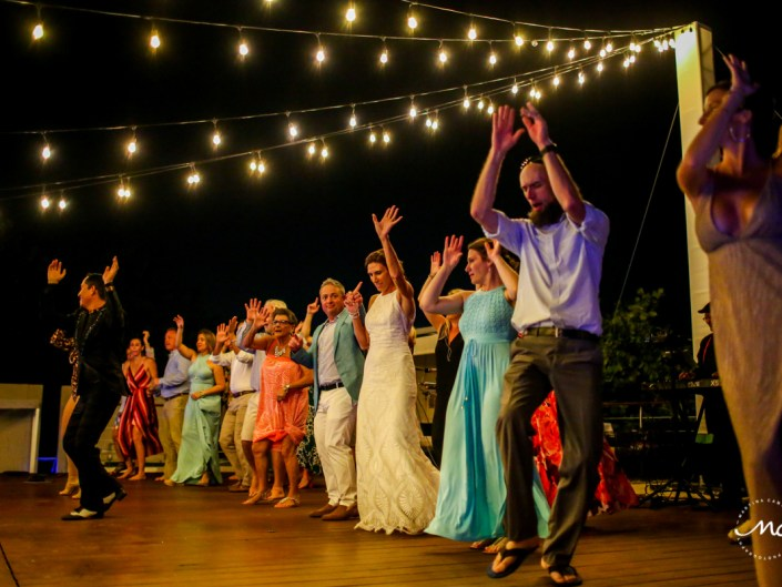 Salsa dance at wedding reception. Blue Diamond Riviera Maya, Mexico. Martina Campolo Photography