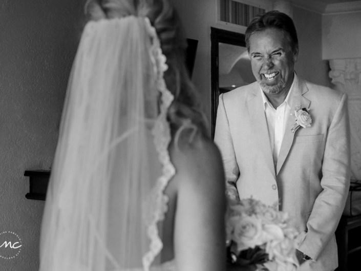 Father of the bride. The Royal Playa del Carmen Wedding. Martina Campolo Photography