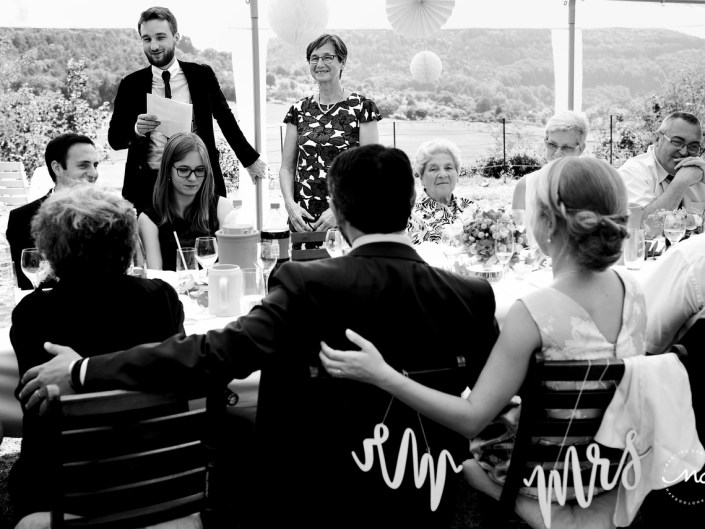 Wedding speeches. Intimate Heidelberg Wedding in Germany. Martina Campolo Photography