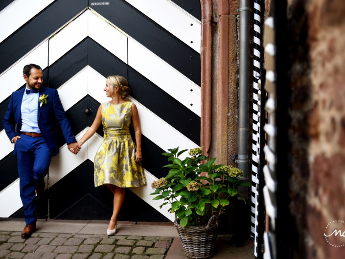 Bride and groom portraits, Heidelberg Wedding in Germany. Martina Campolo Photography