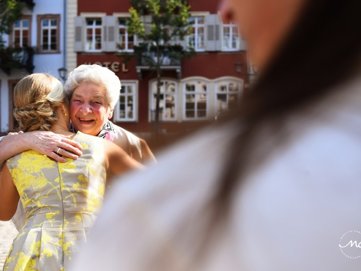 Bride and grandma moment. Heildelberg Wedding by Martina Campolo Photography