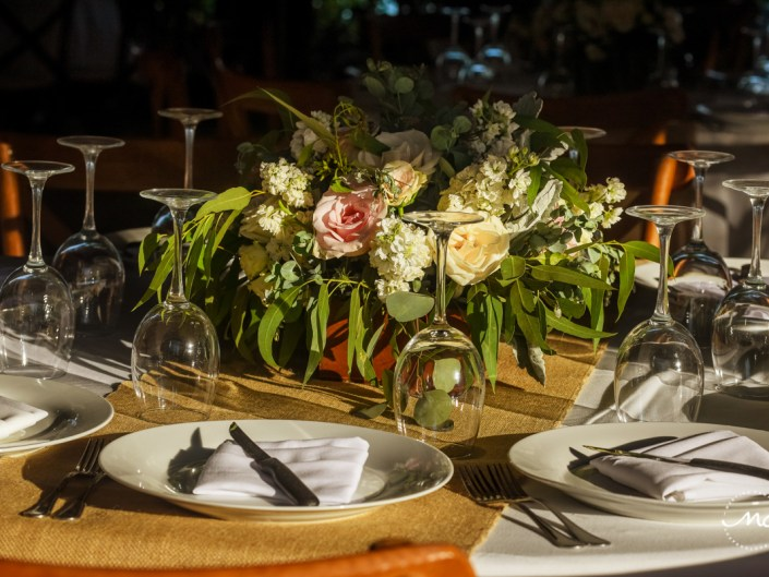 Wedding table decor at Blue Venado Beach Club, Mexico. Martina Campolo Photography