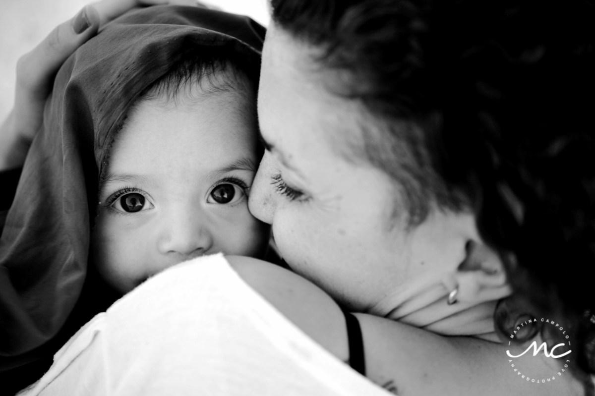 Playacar Family Portraits in Mexico. Martina Campolo Black & White Photographer