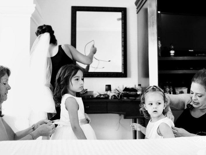 Getting ready for a Now Sapphire destination wedding in Mexico. Martina Campolo Photography