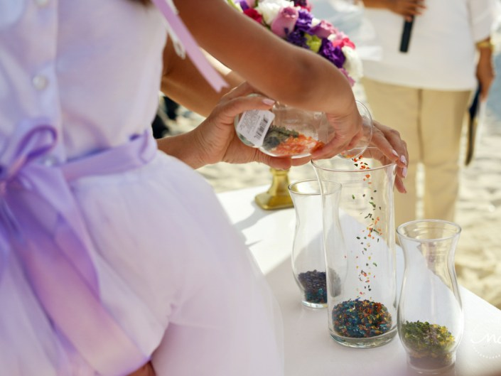 Unity glass ceremony at Now Sapphire Riviera Cancun, Mexico. Martina Campolo Photography
