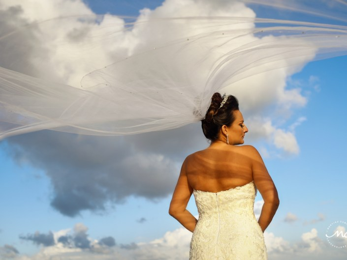Bride veil portraits by Martina Campolo Now Sapphire Riviera Cancun Wedding Photographer