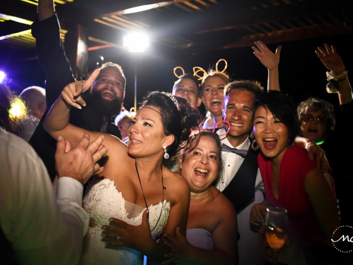 Fun wedding reception moment at Now Sapphire Riviera Cancun. Martina Campolo Photography