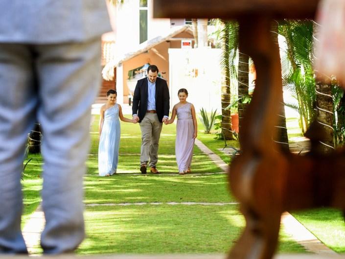 Wedding ceremony at Hacienda del Mar, Riviera Maya, Mexico. Martina Campolo Photography