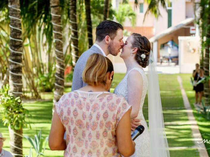 You may kiss the bride moment. Hacienda del Mar wedding in Mexico by Martina Campolo Photography
