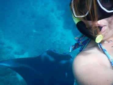 Manta ray selfie!!!