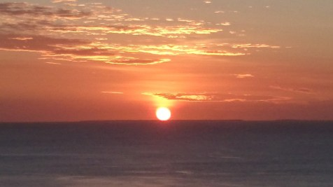 Yet another amazing sunset. This one was snapped from the top of the abseiling cliff.
