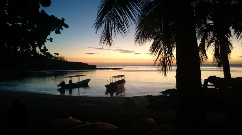 One of the stunning sunsets at Barefoot Island in the Yasawas, Fiji
