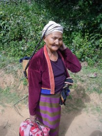 A chatty old lady (no English though) in a hill top village near Hsipaw