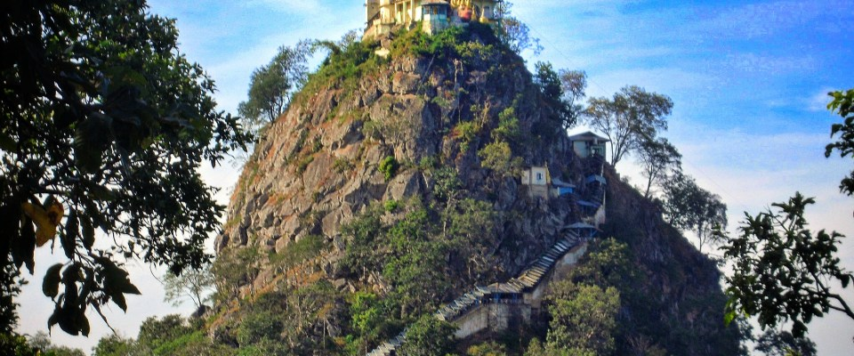 Myanmar's fairytale castle – exploring the monastery on Mt Popa