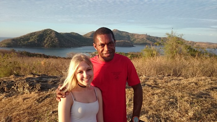 One of the dive masters, Semi, with Sydney, a volunteer with the Vinaka Fiji program. They were busy doing marine conservation while I was learning to dive!