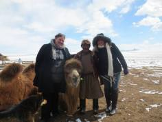 Our host with us and the camels