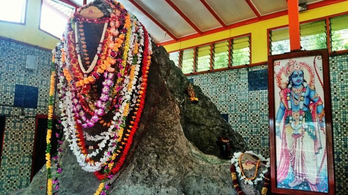 The snake rock at Naag Mandir temple near Labasa, Fiji.