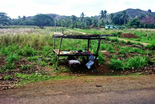 A roadside stall selling mangos near Labasa, Fiji.