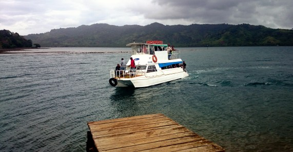 The Taveuni Princess. It's a much smaller ferry than the big cargo vessels!