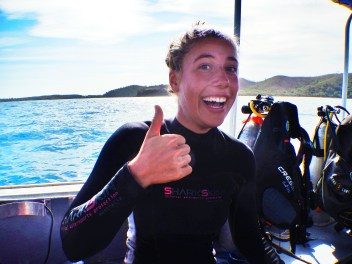 Megan, my fabulous dive instructor