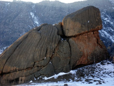 The Turtle Rock, at Terelj National Park