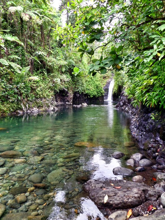 You have to swim the last few metres to this gorgeous waterfall. It's cool, refreshing and perfectly clear.