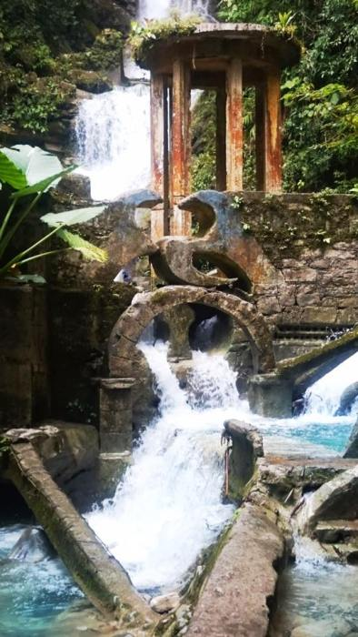 The waterfall at Las Pozas