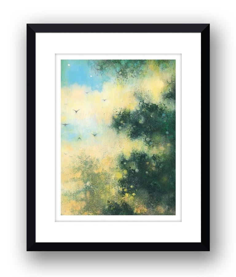 Early evening sunMartin Allan artist and printmaker prints art images sunset framed print