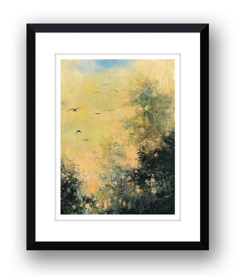 Golden skiesMartin Allan artist and printmaker prints art images sunset framed print