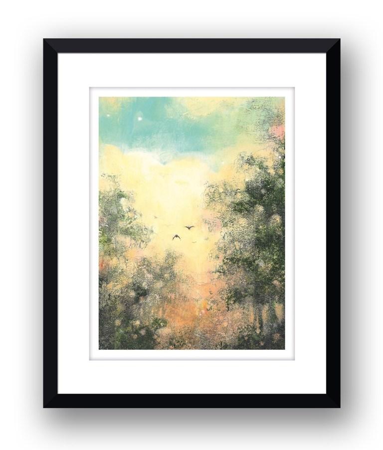 the return homeMartin Allan artist and printmaker prints art images sunset framed print